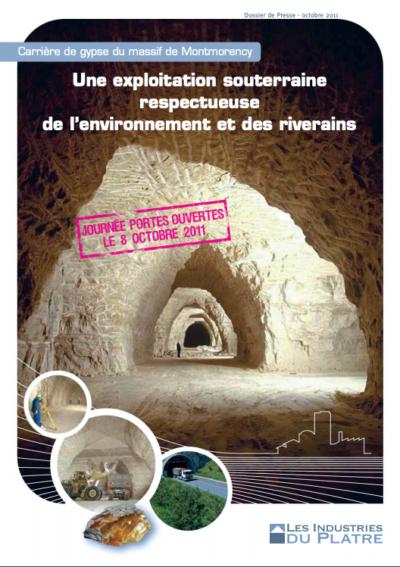 Carrière de gypse du massif de Montmorency, Une exploitation souterraine respectueuse de l'environnement et des riverains