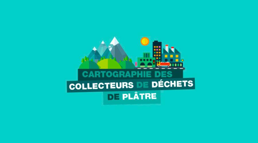 Carte des collecteurs de déchets de produits de construction à base de plâtre et usines de fabrication de plaques de plâtre